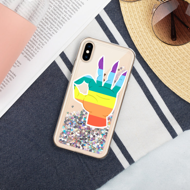 Pride Liquid Glitter Phone Case