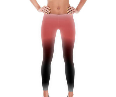 Ombre Coral Black Full Pant Women s Leggings by JacksonsRunaway   jacksons runaway.myshopify.com