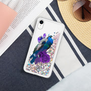 Peacock Liquid Glitter Phone Case | Pink / iPhone XR | iPhone Accessories | JacksonsRunaway