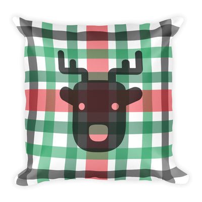 Reindeer Plaid Square Pillow   jacksons runaway.myshopify.com