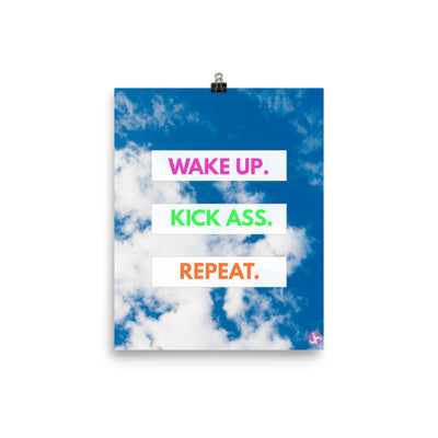 Wake Up Motivation Poster