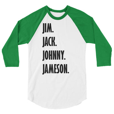Four Fathers of Drinking 3/4 sleeve Raglan Shirt