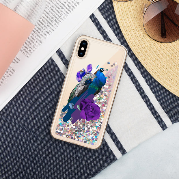 Peacock Liquid Glitter Phone Case | Pink / iPhone X/XS | iPhone Accessories | JacksonsRunaway