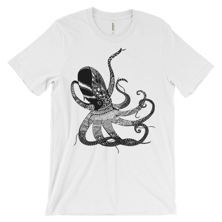 Octopus Wonder Unisex Graphic Print T-shirt | White / 4XL | Unisex Shirt | JacksonsRunaway