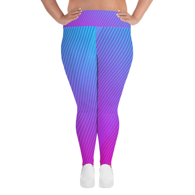 Gradient Plus Size Leggings | 6XL |  | JacksonsRunaway