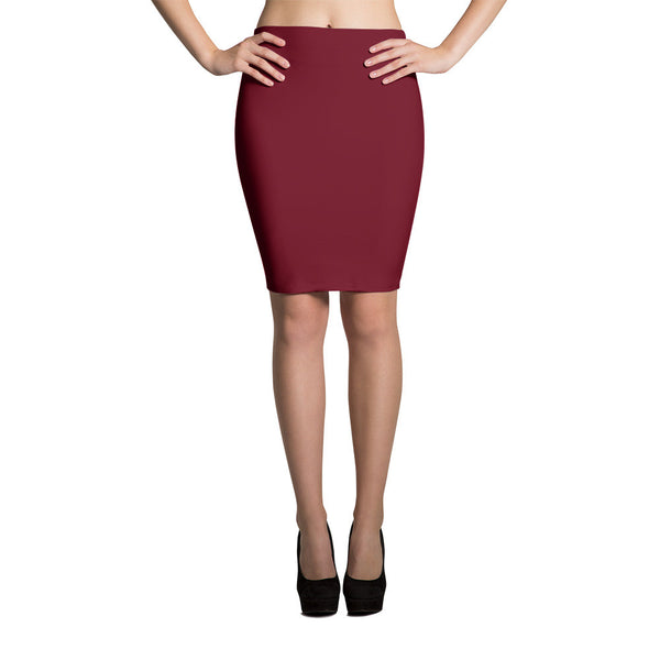 Simple Statement Pencil Skirt in Ruby   jacksons runaway.myshopify.com