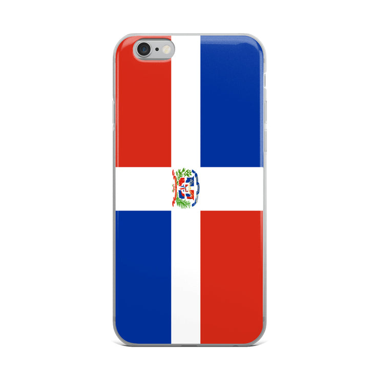 Flag of Dominican Republic Protective iPhone Case (For all iPhone Models) | Dominican Republic / iPhone 6 Plus/6S Plus / Blue/Red/White | Mobile Phone Cases | JacksonsRunaway