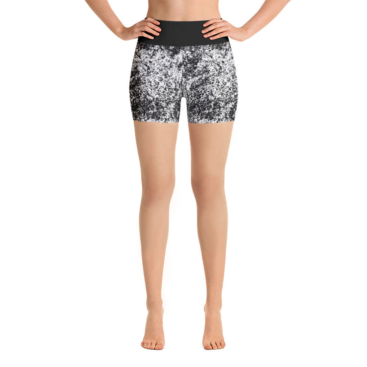 Smokey Detail Yoga Shorts | XL / Black/Grey | Activewear | JacksonsRunaway