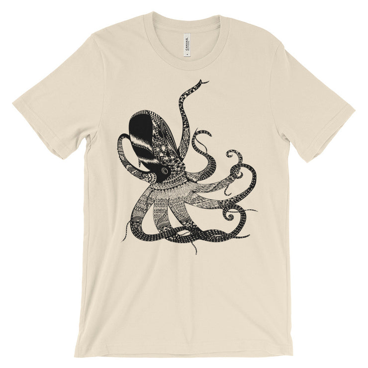Octopus Wonder Unisex Graphic Print T-shirt | Soft Cream / 4XL | Unisex Shirt | JacksonsRunaway