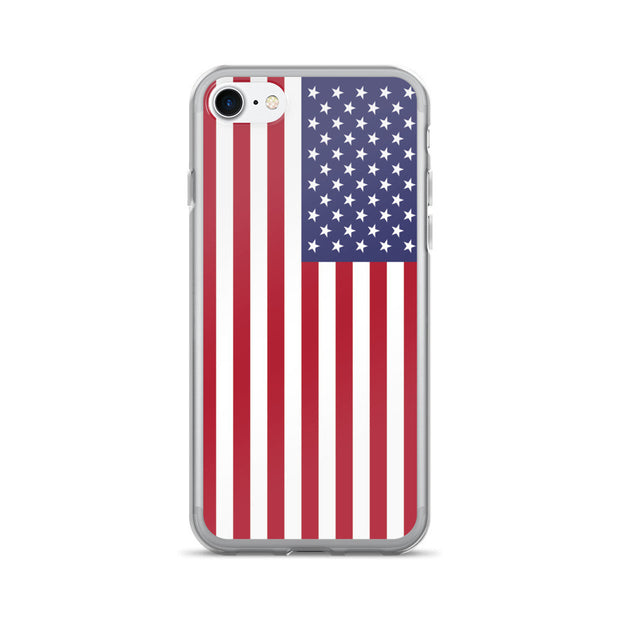 American Flag iPhone Hard Shell Full Protective Case | iPhone 7 / Red/White/Blue | Mobile Phone Cases | JacksonsRunaway