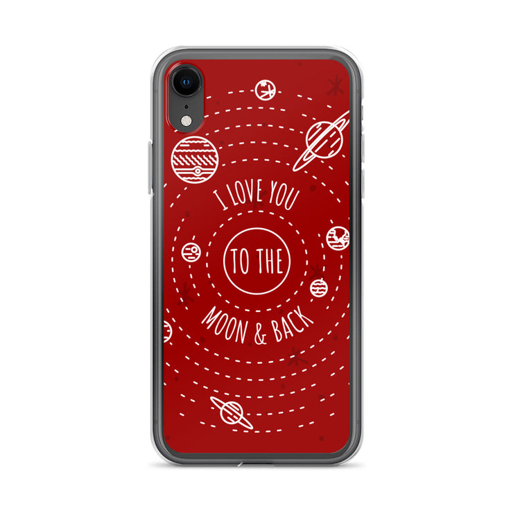 Moon & Back iPhone Case | iPhone XR | Cellphone Accessories | JacksonsRunaway