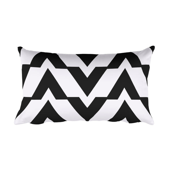 Black and White Rectangular Accent Pillow   jacksons runaway.myshopify.com