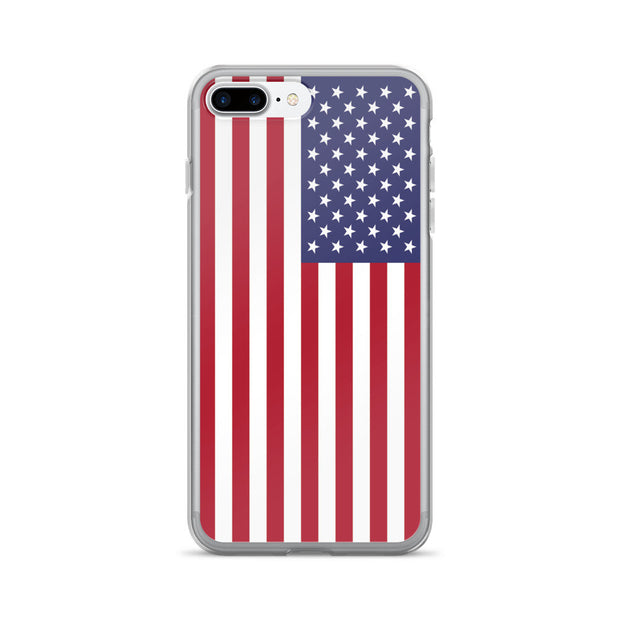 American Flag iPhone Hard Shell Full Protective Case | iPhone 7 Plus/8 Plus / Red/White/Blue | Mobile Phone Cases | JacksonsRunaway