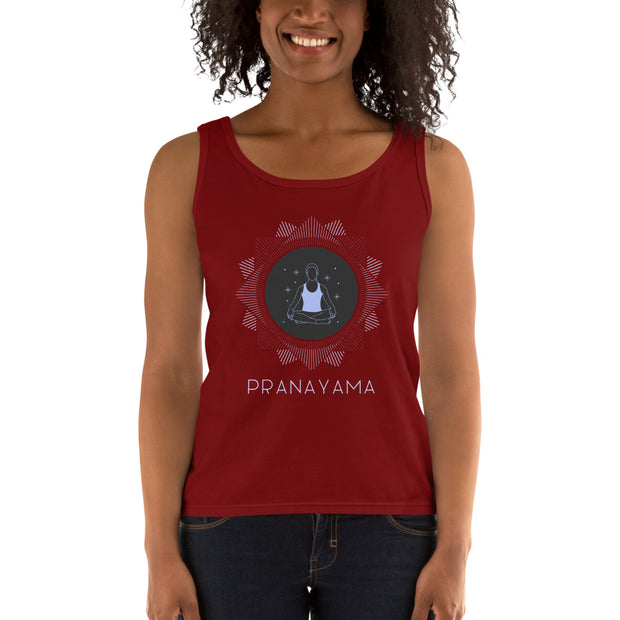 Pranayama Yoga Ladies' Tank | Independence Red / 2XL |  | JacksonsRunaway