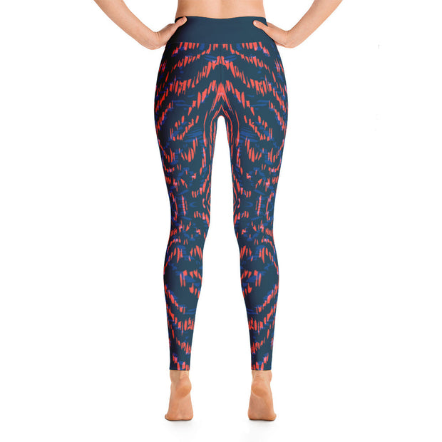 Animal Print Women's Leggings | JacksonsRunaway | Back View