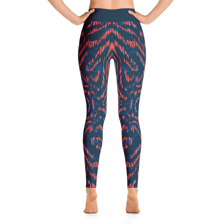 Dark Blue Animal Print Full Pant Women's Leggings |  | Activewear | JacksonsRunaway