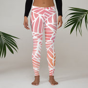 Watercolors Full Pant Women's Leggings | XL / Pink/White | Activewear | JacksonsRunaway
