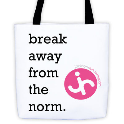 Break Away From Norm Tote bag | 15x15 | Tote Bags | JacksonsRunaway