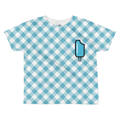 Popsicle Gingham Toddler Tee | 5/6 / Blue | T-shirt | JacksonsRunaway