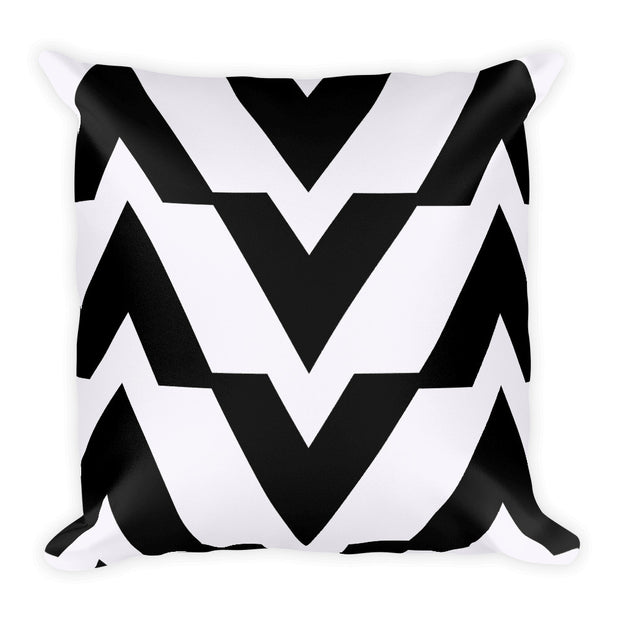 Black and White Square Accent Pillow