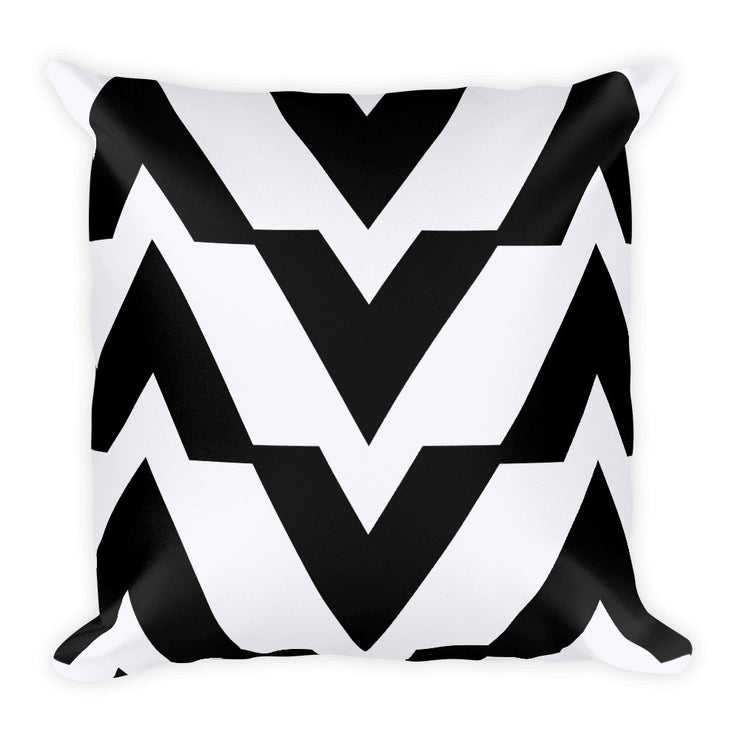 Black and White Square Accent Pillow | Black/White | Home Decor | JacksonsRunaway
