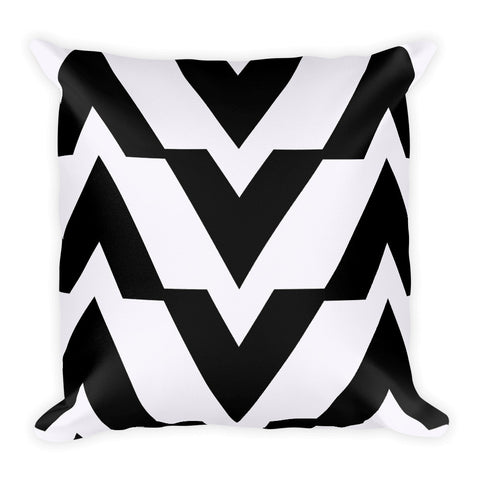 Black and White Square Accent Pillow   jacksons runaway.myshopify.com