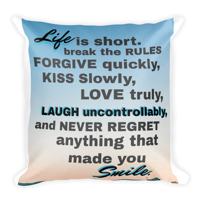 Life Is Short Square Pillow   jacksons runaway.myshopify.com