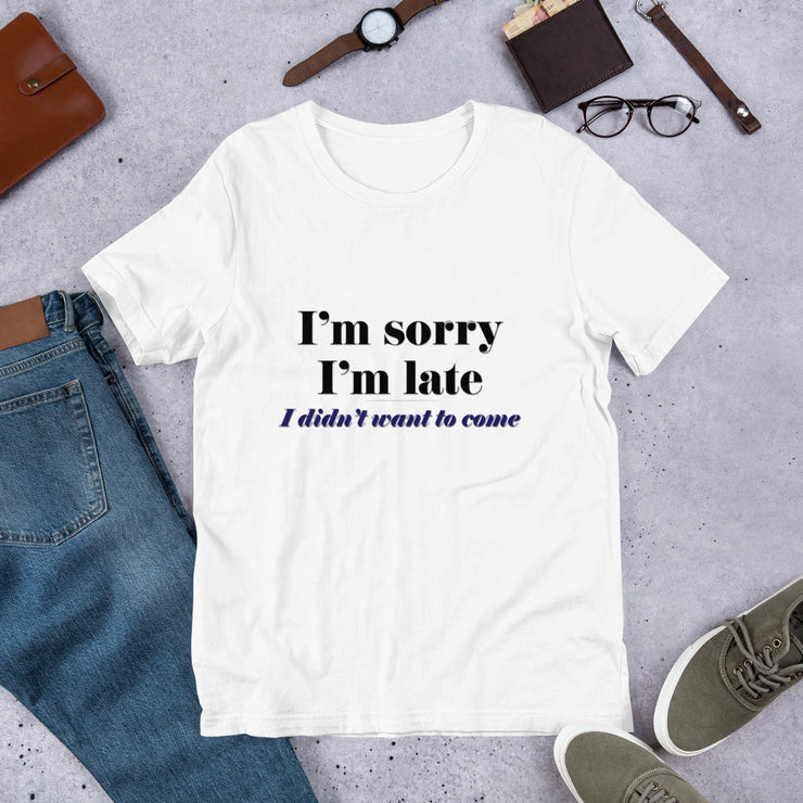 I'm Sorry Men's Jersey T-Shirt
