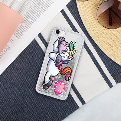 Unicorn Poof Liquid Glitter Phone Case