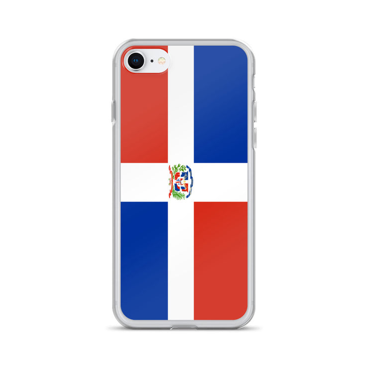 Flag of Dominican Republic Protective iPhone Case (For all iPhone Models) | Dominican Republic / iPhone 7/8 / Blue/Red/White | Mobile Phone Cases | JacksonsRunaway