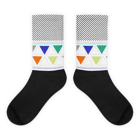 Black Graphic Detail Socks   jacksons runaway.myshopify.com