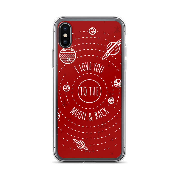 Moon & Back iPhone Case | iPhone X/XS | Cellphone Accessories | JacksonsRunaway