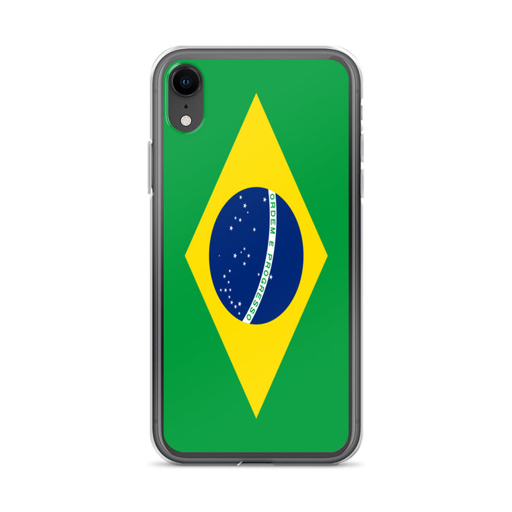 Flag of Brazil Protective iPhone Case (For all iPhone Models) | Brasil / iPhone XR / Green/Yellow | Cellphone Accessories | JacksonsRunaway