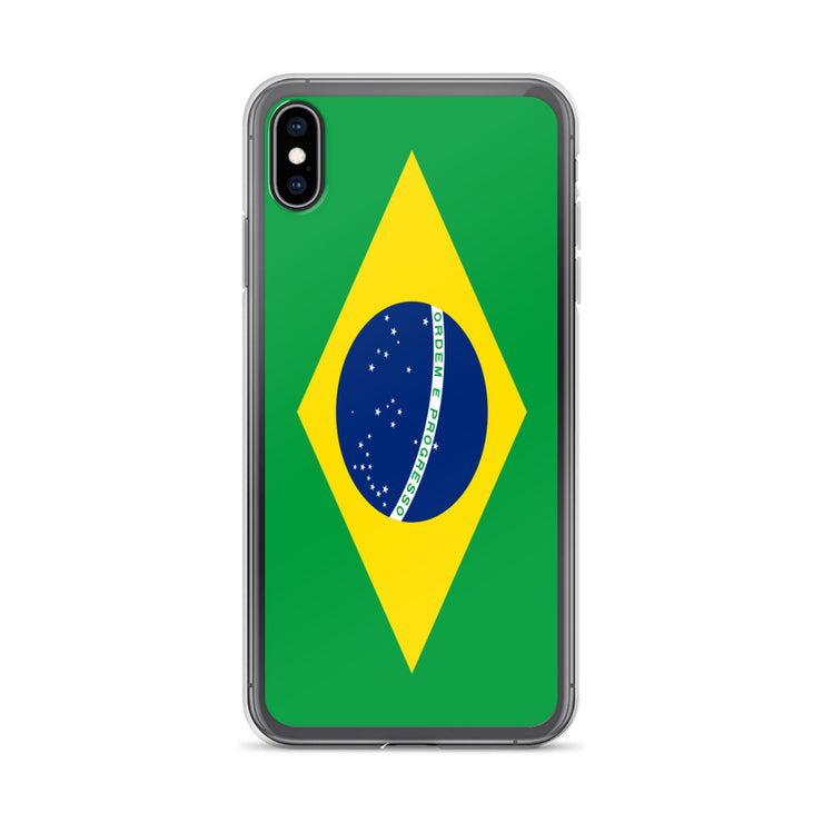 Flag of Brazil Protective iPhone Case (For all iPhone Models) | Brasil / iPhone XS Max / Green/Yellow | Cellphone Accessories | JacksonsRunaway