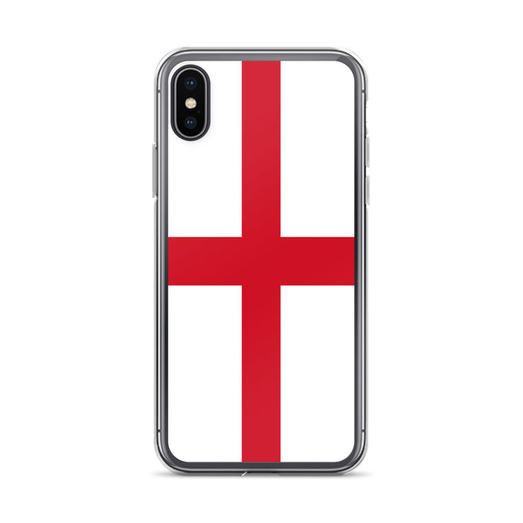 Flag of England Protective iPhone Case (For all iPhone All Models) | England / iPhone XS Max / Red/White | iPhone Accessories | JacksonsRunaway