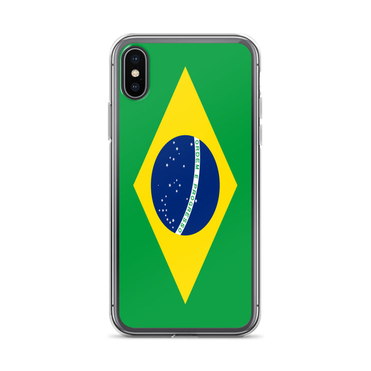 Flag of Brazil Protective iPhone Case (For all iPhone Models) | Brasil / iPhone X/XS / Green/Yellow | Cellphone Accessories | JacksonsRunaway