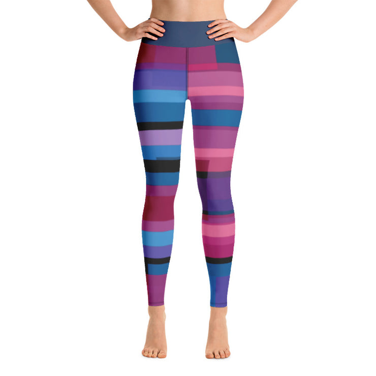 Overlapping Bursts of Color Yoga Leggings | XL / Multi-Color | Activewear | JacksonsRunaway