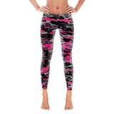 Pink and Black Camouflage Full Pant Leggings By JacksonsRunaway
