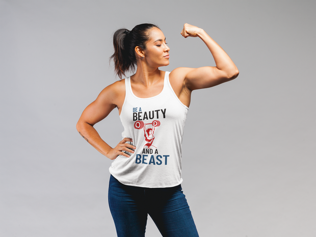 Beauty Women's Racerback Tank - Model Image | JacksonsRunaway