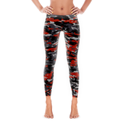 Camo Style Full Pant Women's Leggings | JacksonsRunaway | Red Camo
