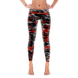 Red and Black Camouflage Full Pant Leggings By JacksonsRunaway