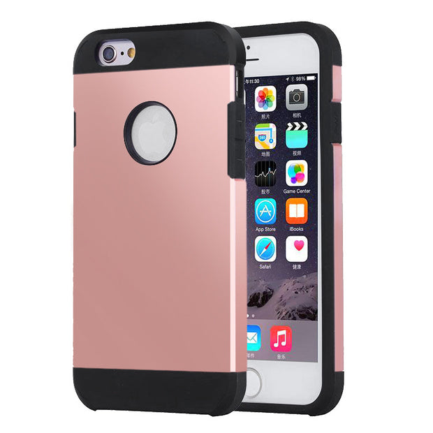 iPhone 6 and 6S   Shockproof Hybrid Armor Case   JacksonsRunaway   Rose