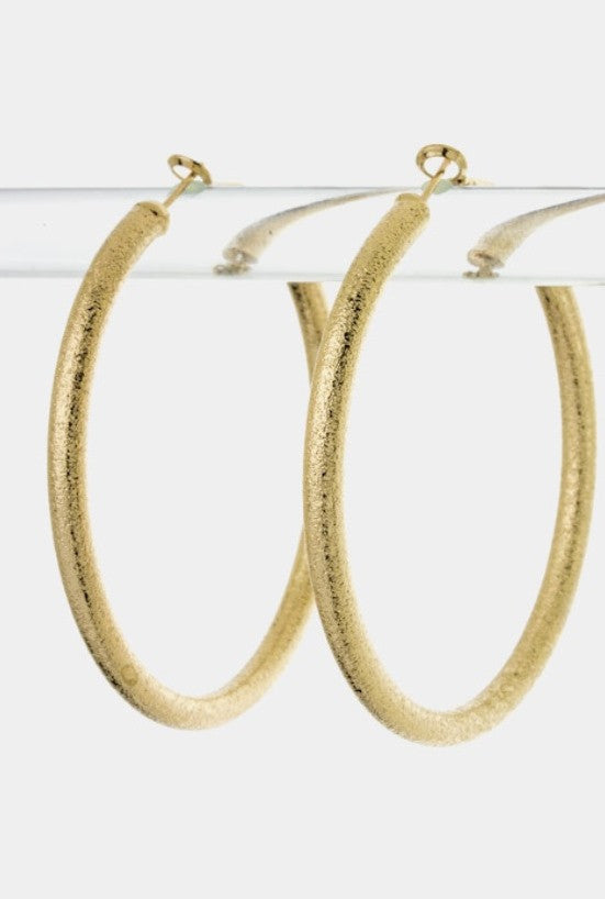 Shimmering Look Hoop Earrings - Jacksons Runaway