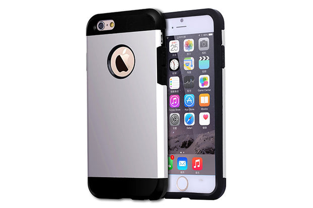 iPhone 6 and 6S   Shockproof Hybrid Armor Case   JacksonsRunaway   Silver