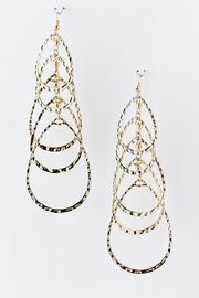 Sooner Or Layers Drop Chandelier Earrings - Jacksons Runaway