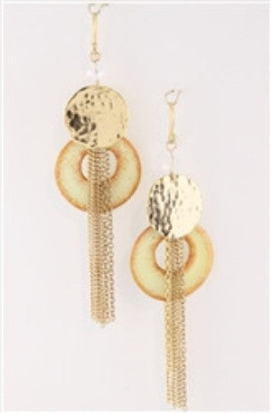 Tassel Art Drop Statement Earrings