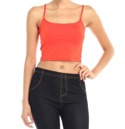 Everyday Discovery Cami Crop Top | Tomato Red / Large | Women's | JacksonsRunaway