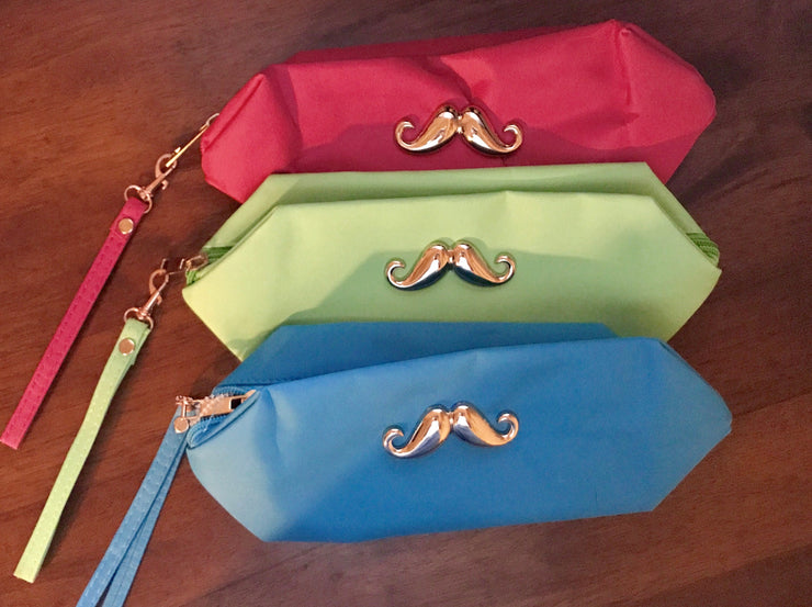 Stache It Away Cosmetic Pouch