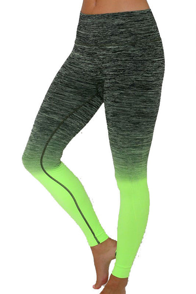 Leggings   Yoga Pant   Everlasting Ombre Full Pant   Jacksons Runaway   Black Neon Green