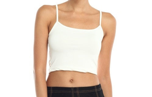 Everyday Discovery Cami Crop Top | White / Large | Women's | JacksonsRunaway